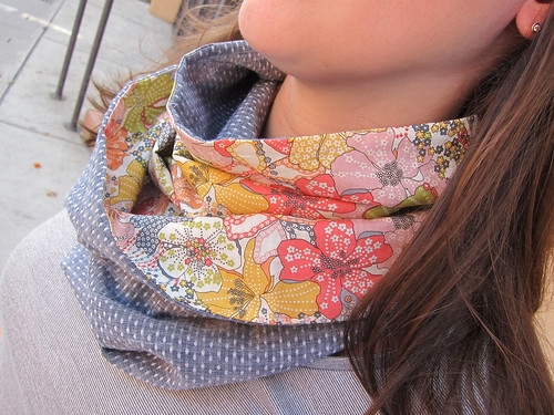 Chambray and Liberty Tana Lawn Infinity Scarf