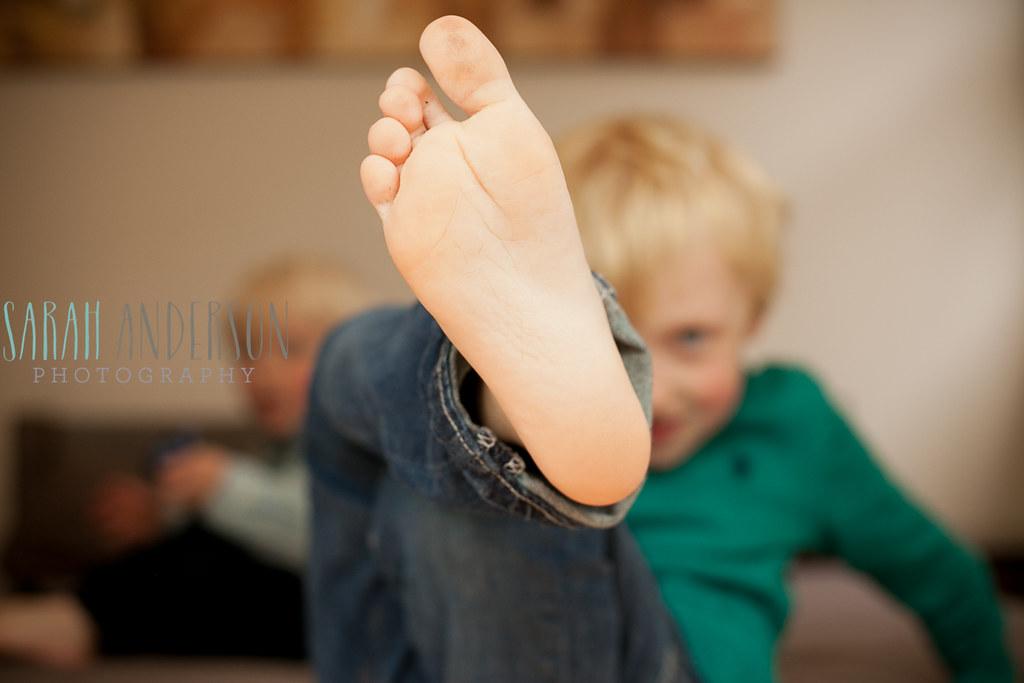 Little boy foot
