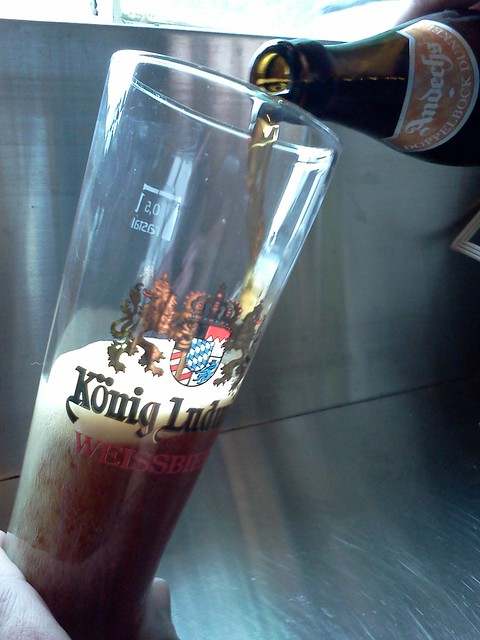 The pour -- at least the glass is for a Bayern bier