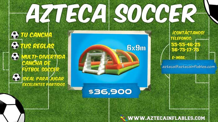 inflables para futbol soccer