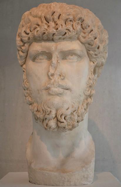 Portrait of Lucius Verus, 161 - 170 AD, Acropolis Museum, Athens, Greece