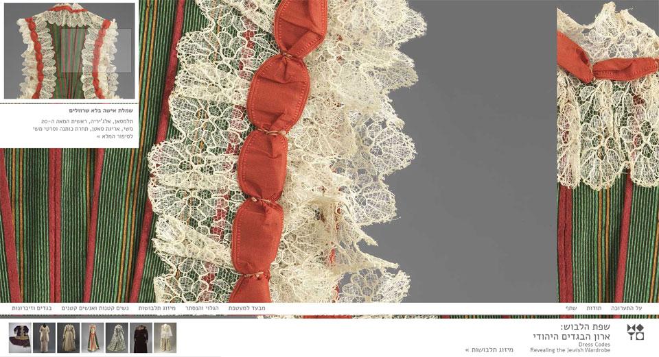 שפת הלבוש, מוזאון ישראל, 2014. עיצוב: חיה שפר