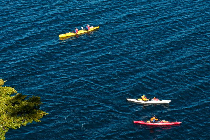 Kayaking around Puerto Natales