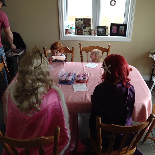 Just hanging out with Emma, Aurora, and Ariel. NBD.