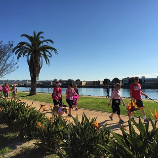 #kvpweekend Run puppy run! #PawsFurPink 5K at Liberty Station in #SanDiego. My first 5K race! 😊🐶🐾