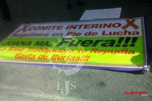 Sindicalistas del Hospital Central exigen remoción de su comité directivo. Se plantan en la STPS