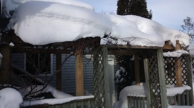 Pergola Winter Update (or is it an arbor?)