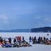 Snowmobiles on Lake George by Samantha Decker