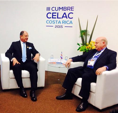 Secretario General de la OEA se reunió con el Presidente y el Canciller de Costa Rica