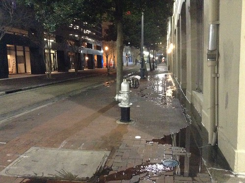 Sewage problems in New Orleans (Warehouse District)