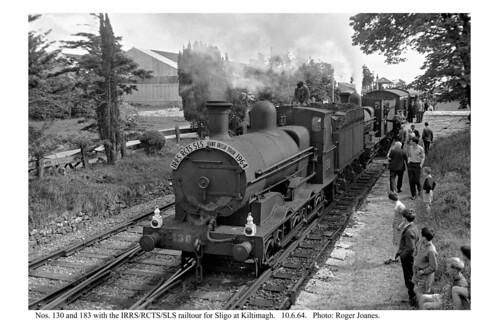 Kiltimagh. Nos. 130 & 183 on railtour. 10.6.64