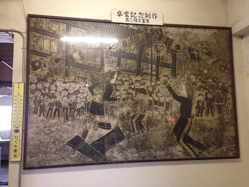 廊下に展示の作品