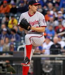 Stephen Strasburg pitches vs. Mets