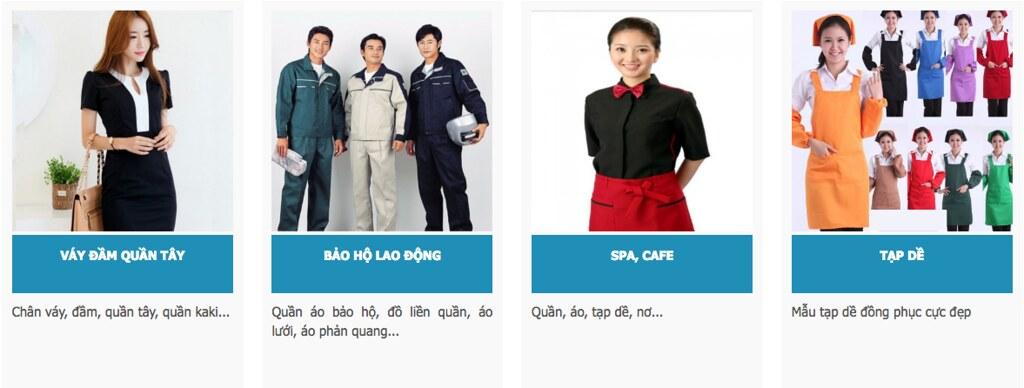 Đồng phục váy đầm quần tây, bảo hộ lao động, đồng phục spa cafe, đồng phục tạp dề