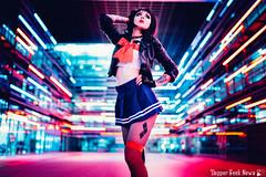 Sailor Dress in Neon