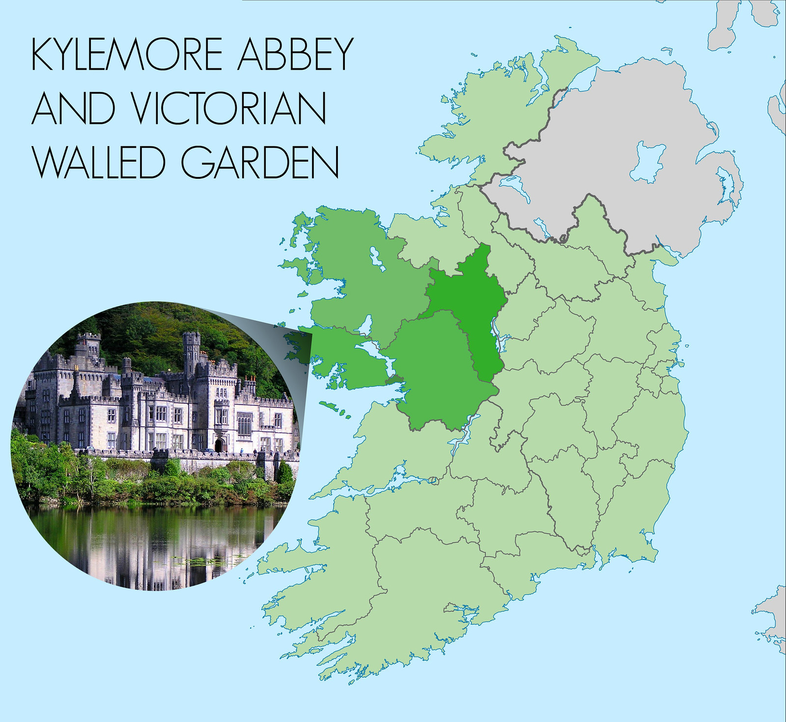 Kylemore Abbey in County Galway on the beautiful west coast of Ireland