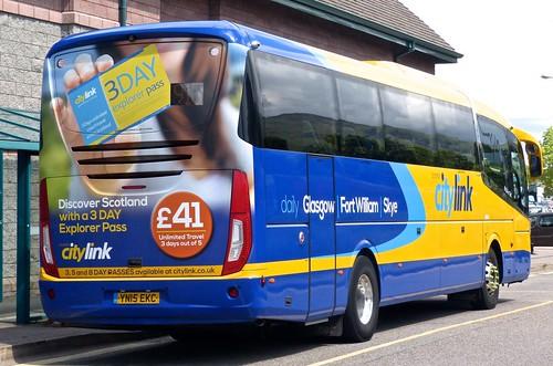 YN15 EKC 'West Coast Motors' 11511 (Scottish citylink) Scania K360B4 / Irizar i6 on Dennis Basford's 'railsroadsrunways.blogspot.co.uk'