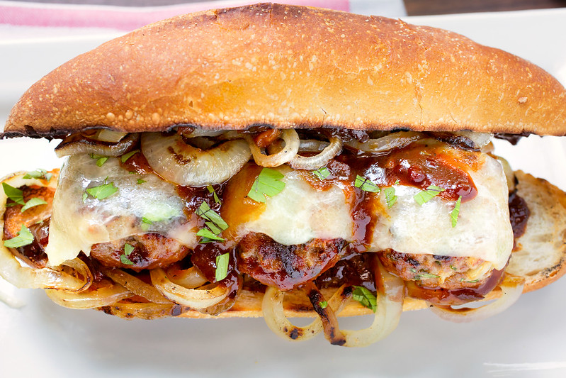 Grilled Meatballs Subs