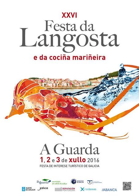 A Guarda 2016 - XXVI Festa da Lagosta - cartel