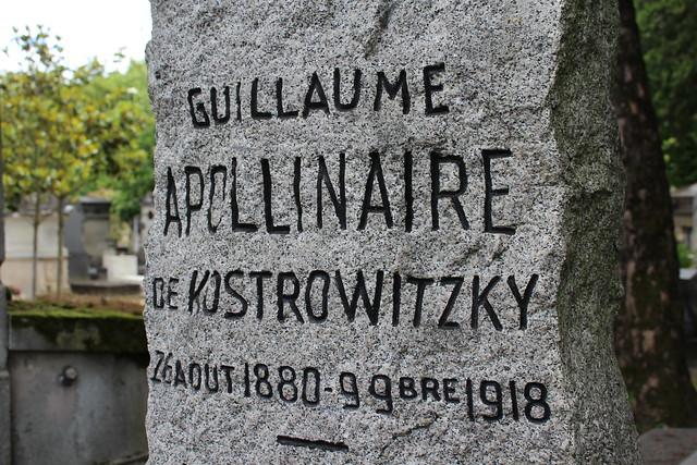 Tombe de Guillaume Apollinaire - Cimetière du Père Lachaise