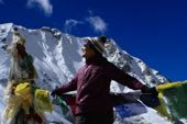 Nepal Trekking Manaslu Circuit. Manaslu, 8163 m, Pass Larkya La bei der Manaslu-Runde. Foto: Christine Theodorovics.