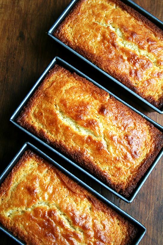 Lemon Ricotta Loaves Just Baked