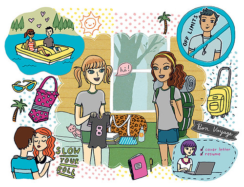 illustration for Girls' Life Magazine