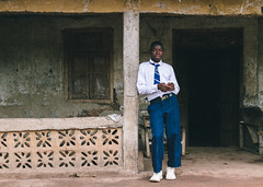 School boy in Sierra Leone