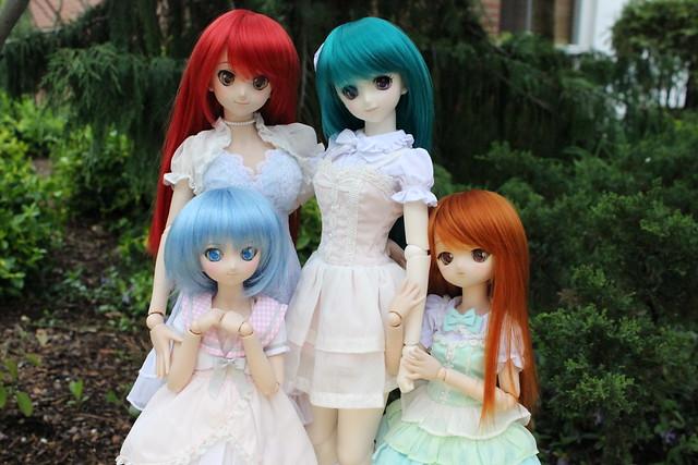 Yoko, Nia, Cirno and Maya