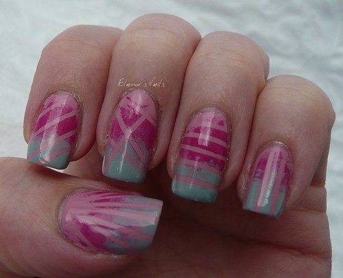 grey pink tape gradient 1