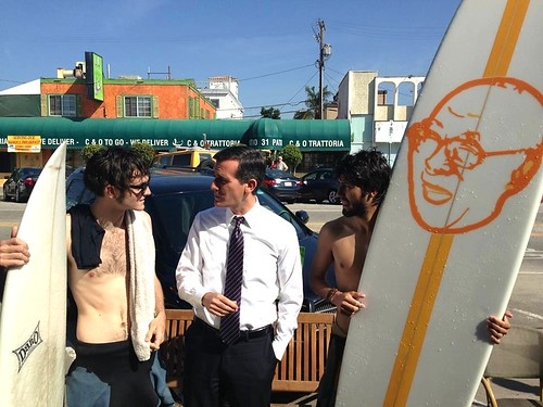 Eric Garcetti Venice Beach