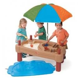 Sand and Water Table with Children Playing