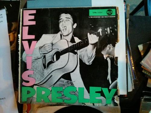 Elvis Presley LP Cover Inspiration für London Calling von The Clash