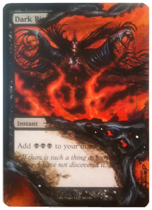 Dark Ritual altered Art Magic the Gathering Art Card Art by Kendall Stump painted MTG altered art cards magic artwork