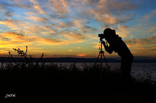 sky lake silhouette clouds sunrise landscape golden colours photographer hour paraguay aregua