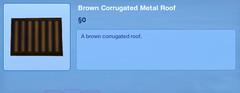 Brown Corrugated Metal Roof