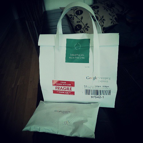 My first @Google Shopping Express packages. Yep, I'm a fan!