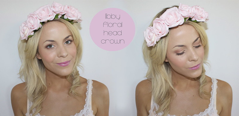 libby floral head crown