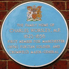 Photo of Charles Worsley blue plaque