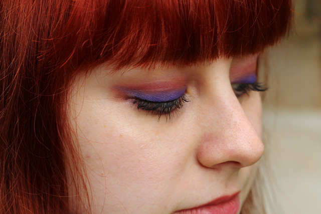 Purple and Orange Eye Shadow