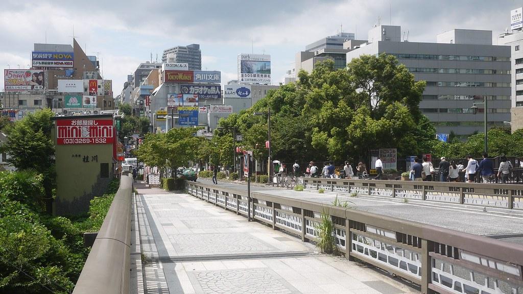 Kagurazaka from Iidabashi Bridge