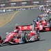 Scott Dixon leads the field leading into Turn 9 at Sonoma Raceway
