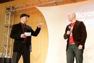 Brad questioning a presenter