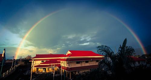 sunrise rainbow nouvellecalédonie newcaledonia 2013 koné