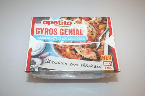 01 - Apetito Gyros Genial - Verpackung vorne / Packaging front