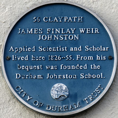 Photo of James Finlay Weir Johnston blue plaque