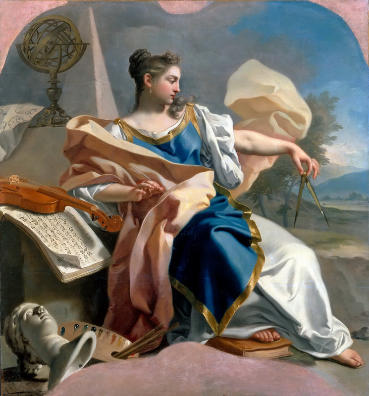' Allegory of The Arts' Francesco de Mura ( Italian 1696-1782) Oil on canvas , circa 1747-50. Louvre