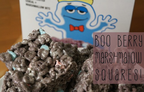 Boo Berry Marshmallow Squares by Heather Says