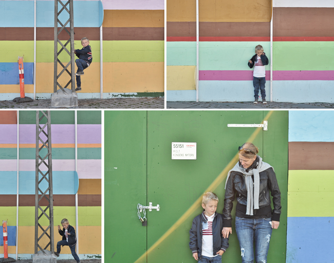 färgglad vägg