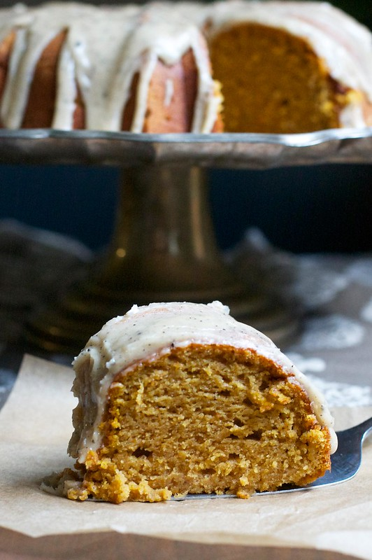 Pumpkin Buttermilk Bundt Cake with Brown Butter Icing